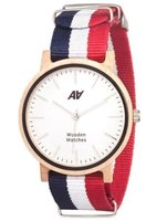 Часы AA Wooden Watches Casual Nato B-W-R фото 1
