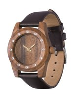 Watch AA Wooden Watches Lady Kristal 12  W3 Brown photo 1