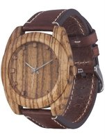 Часы AA Wooden Watches Woodcube (зебрано) S4 Zebrano-L-BR фото 1