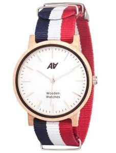 Watch AA Wooden Watches Casual Nato B-W-R