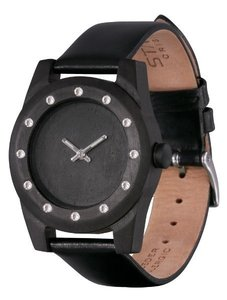 Watch AA Wooden Watches Lady Kristal 12 W3 Black-L-W