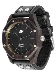 Watch AA Wooden Watches Octagon S5Black