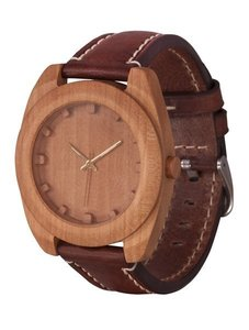 Часы AA Wooden Watches Woodcube (груша) S4 Pear-L-BR