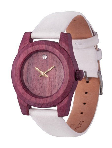 Watch AA Wooden Watches Lady Kristal W2 Purple