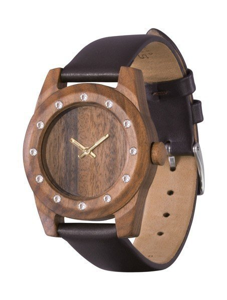 Watch AA Wooden Watches Lady Kristal 12  W3 Brown
