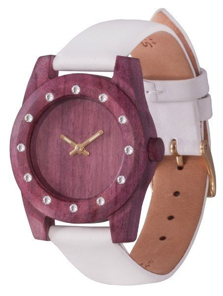 Watch AA Wooden Watches Lady Kristal 12  W3 Purple