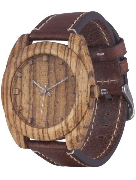 Часы AA Wooden Watches Woodcube (зебрано) S4 Zebrano-L-BR